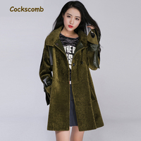 Cockscomb Brand 2017 New Creative Lamb Wool Coat Outerwear Women Fashion Loose Fit A Line Wool