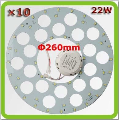 Nagykereskedelmi DHL szállítás 10 * 22W led kör alakú panel LED - Beltéri világítás