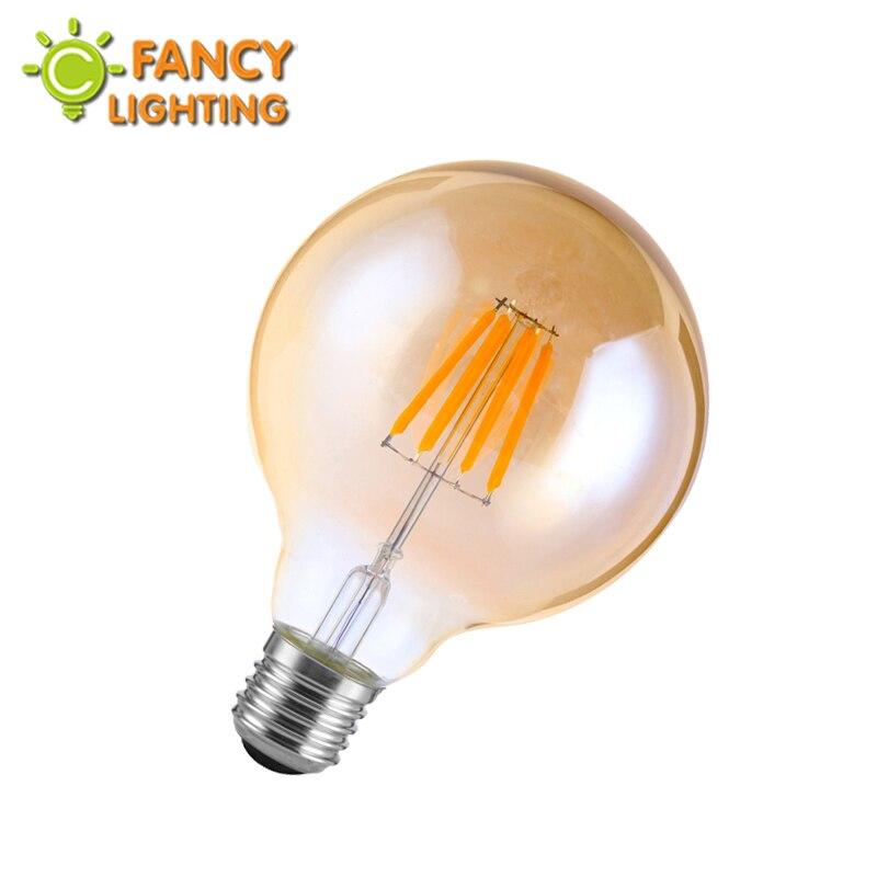 Led lamp G95 Golden led edison light bulb E27 110V 220V led lampen for home/living room/dining room decor 4W/6W/8W lampadas led