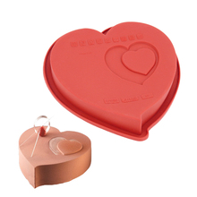 Solid Heart Shape Cake Mold Single Cake Pan Classic Sweet Love Silicone Non Stick DIY Baking Tool Useful Kitchen Cooking Tools