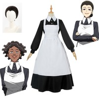 The Promised Neverland Isabella Cosplay Women Maid Dress Yakusoku no Neverland Cosplay Costume Anime Costume Halloween