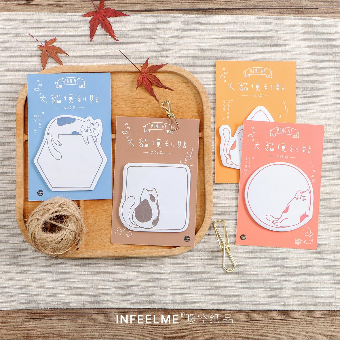 30 Sheets Kawaii Cute Cat Animal Sticky Notes Memo Pad Decoration Stationery School Office Supplies 4 pcs lot cat memo pad stationery papelaria escolar school supplies memo pad gift cute kawaii animal sticky notes memo notebook