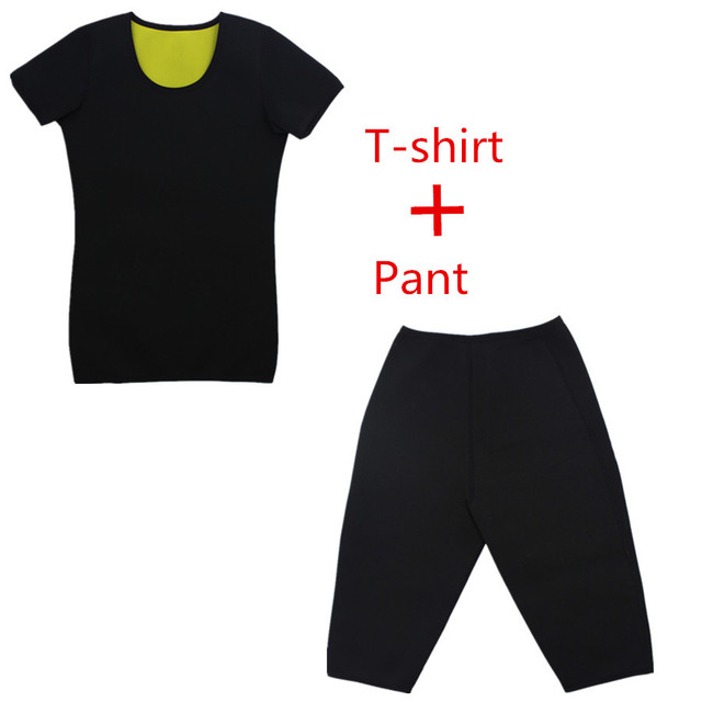 RiauDe Neoprene Sweat Shaper Pants&Belt &Short Sleeve shaperwear Super Stretch control Slimming Pants&T-shirt&Shapers belts Set 1