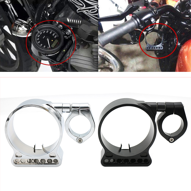 Evomosa Motorcycle Side Mount Speedometer Relocation Bracket Cover Instrument Bracket Case Housing For Harley Sportster XL883