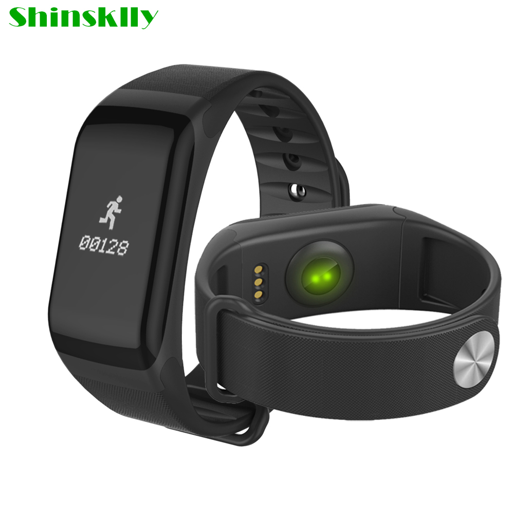 F1 Smartband IP67 Waterproof Heart Rate Monitor Sport Smart Wristbands blood pressure Fitness calls Remind For