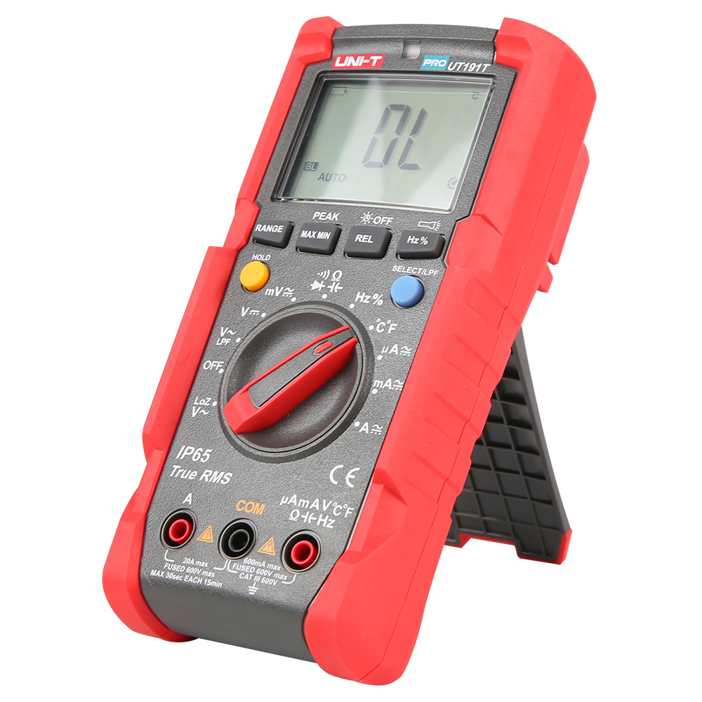 UT191T Digital Multimeter Voltmeter Ammeter True RMS 6000 Counts Multi Meter Duty Cycle Temperature Diode Tester with Flashlight in Multimeters from Tools