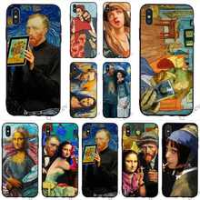 Slim Van Gogh Starry Mona Lisa Phone Cover for iPhone 6S Plus Case 8 XR X 7 6 5 5S SE Xs Max Covers Skin