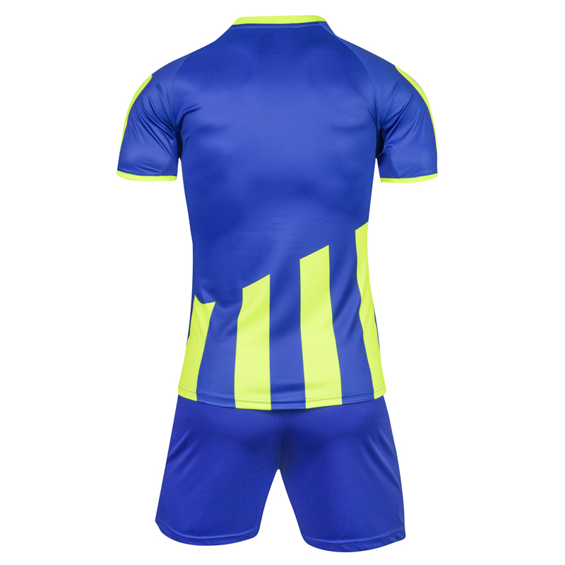 1ab397387 Men Striped Survetement Football Jerseys Team Sports Kit Soccer Jersey Sets  Uniforms Shirts Shorts Kit Maillot De Foot DIY 2018