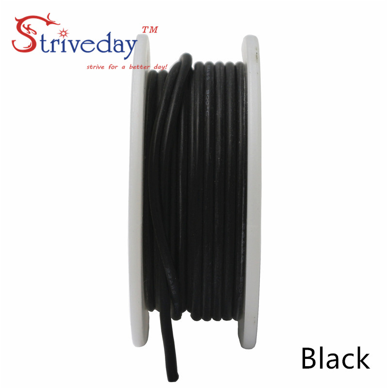 10 meters 32.8 ft 28AWG Flexible Rubber Silicone Wire Tinned copper line DIY Electronic cable 10 colors to choose from 30meters white 28awg ul1007 cable electronic wire to internal wiring electrical wires diy cables 100ft 28 awg