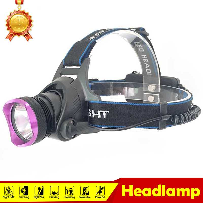2000 Lumens Flashlight Forehead T6 LED Headlamp 18650 Waterproof Headlight Rechargeable Head Lamp for Camping Light Torch 12pcs lot hunting friends super bright led headlamp rechargeable flashlight forehead waterproof headlight head flashlight torch