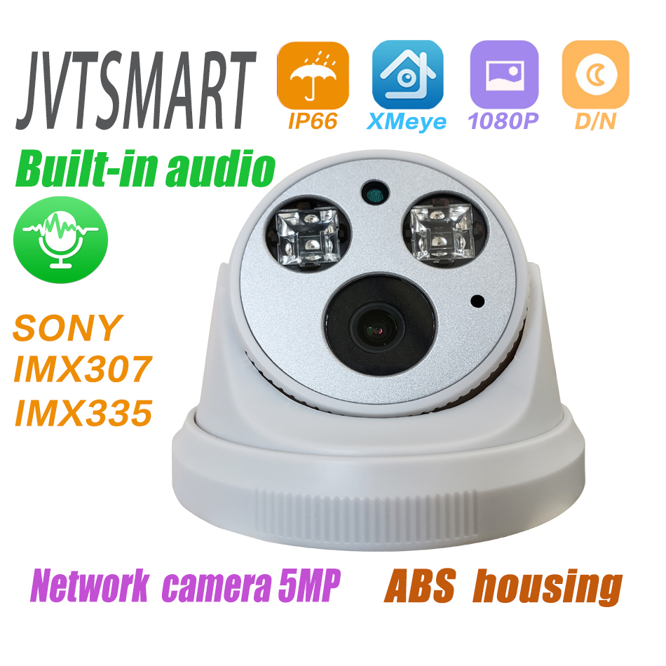 Caméra audio intégrée H.265 IP 1080P 3mp 5mp 2.8mm 3.6mm ONVIF 48v poe réseau ipcam dôme intérieur caméra l XMEye Surveillance CCTV