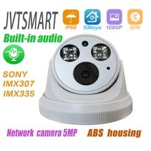 Eingebaute audio H.265 IP Kamera 1080P 3mp 5mp 2,8mm 3,6mm ONVIF 48v poe netzwerk ipcam Innen dome cam l XMEye Überwachung CCTV