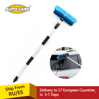 AUTO CARE Telescopic Water Through Car Wash Brush Aluminum Handle Extended To 165cm Adjust Switch 10