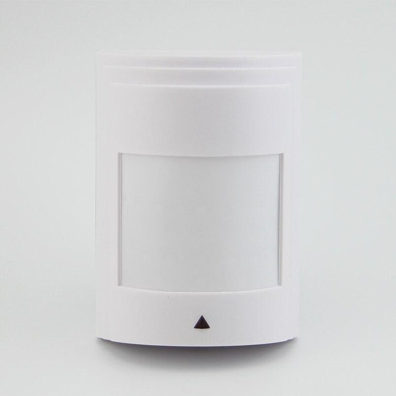 ¡Envío gratis! 8 unids/lote con cable PIR Sensor de movimiento Detector de alarma PIR infrarrojo Detector de movimiento Sensor para GSM alarma y seguridad en el hogar