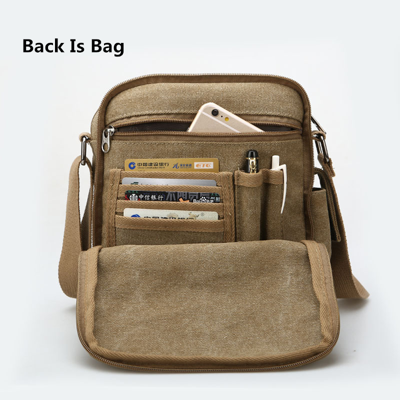 Back And Front Side Pockets Men Messenger Bags Canvas Vintage Bag Shoulder Crossbody Small Designer Handbags Bolso On Aliexpress Alibaba