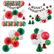 Christmas Decoration Set Festival Supplies Xmas Tree Santa Claus Gift Photo Wall Navidad New Year Ornaments Arrival