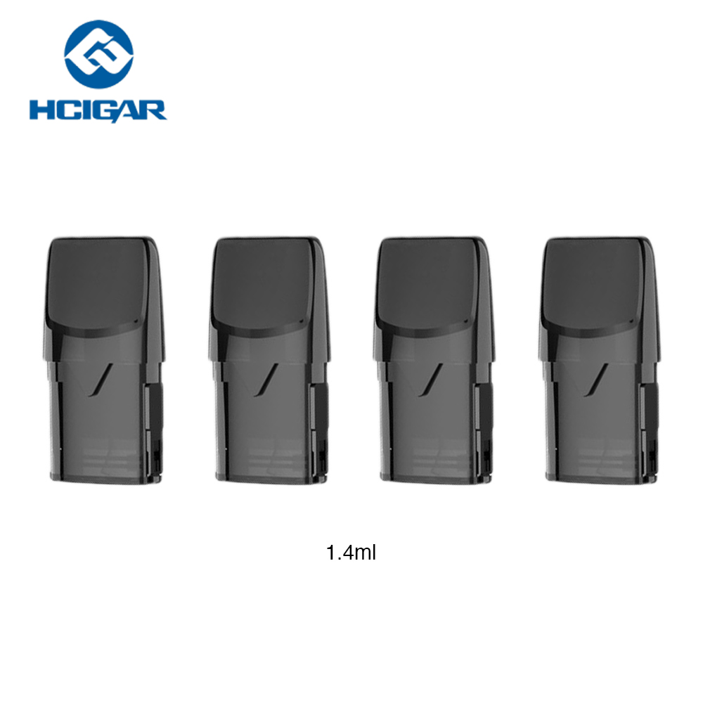 100% Original Hcigar Akso OS Pod Cartridge 1.4ml 4pcs/pack With 1.8ohm Coil Resistance For Hcigar Akso OS Pod Starter Kit Vape
