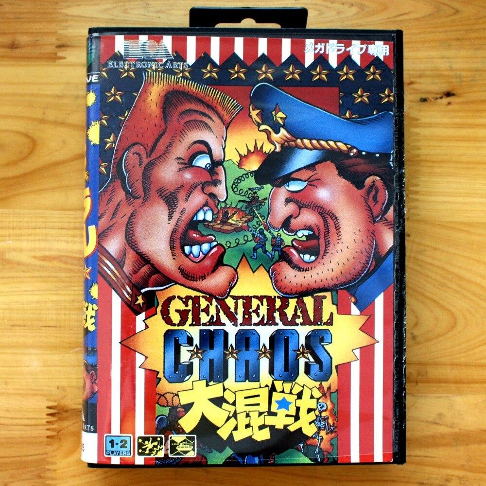 General Chaos 16 Bit SEGA MD Game Card With Retail Box For Sega Mega Drive For Genesis