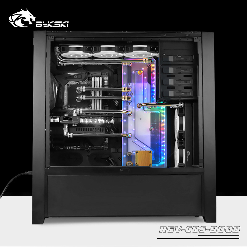 RGV-COS-900D BYKSKI Waterway Board Channel For Corsair 900D Computer Replace Reservoir Better Heat Dissipation For Gamer Pc