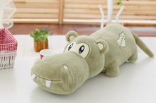 lovely new plush  green high quality hippo toy cartoon hippo doll gift about 100cm