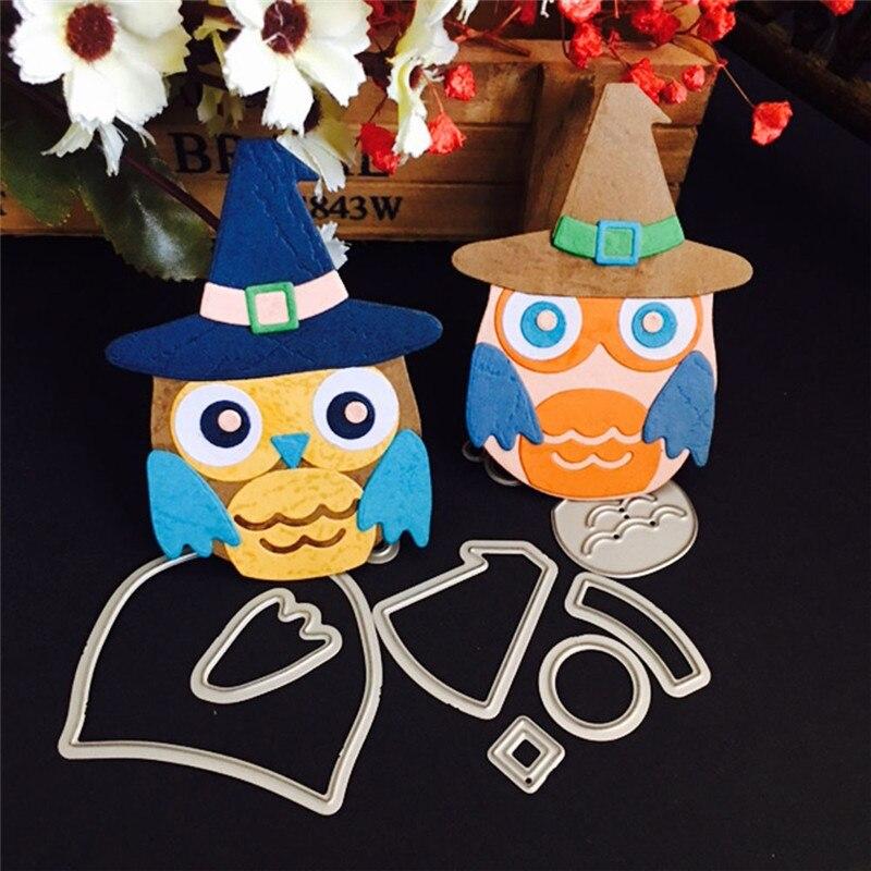 metal cutting dies Scrapbooking 3D flowers Owl animals embossing Halloween Paper pumpkin bat shiva Cutting Dies Stencil DIY