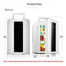 22L CNC dual-core car / home refrigerator mini refrigerator with single door student dormitory small fridge DC12v / AC220V 1PC