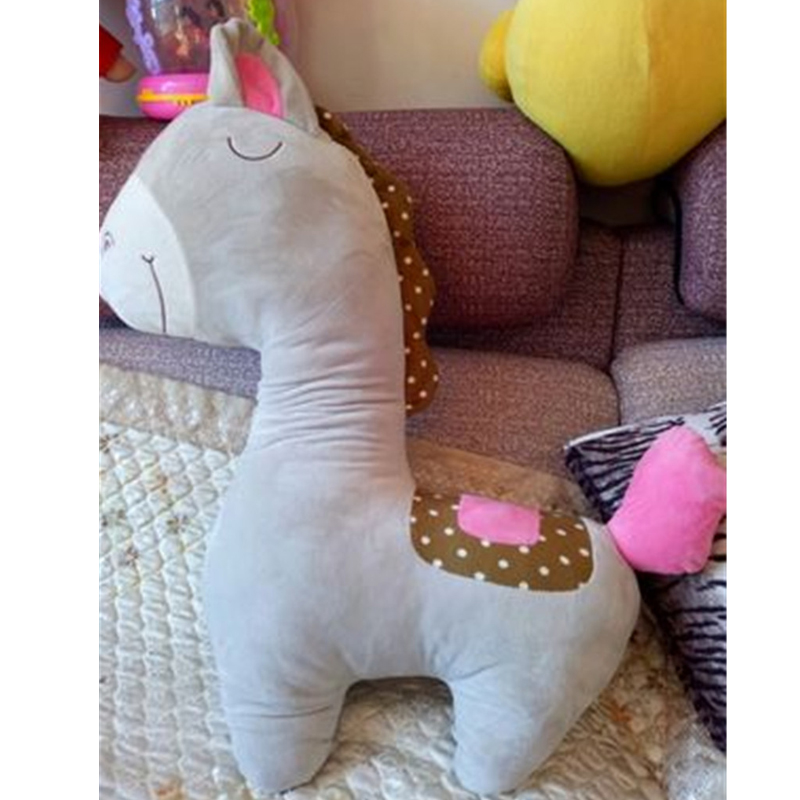 Fancytrader 100cm Giant Cute Soft Animal Horse Plush Pillow 39'' Big Stuffed Cartoon Horse Toy Doll Baby Present - 5