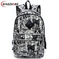 New Fashion Printing Backpack School Bag For Boy Girl Teenagers Travel Rucksack Men's Canvas Backpack Women Bags L4-1454