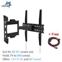 Full Motion Articulating Tilt Swivel TV Wall Mount Bracket For 26 55 LED LCD TV VESA