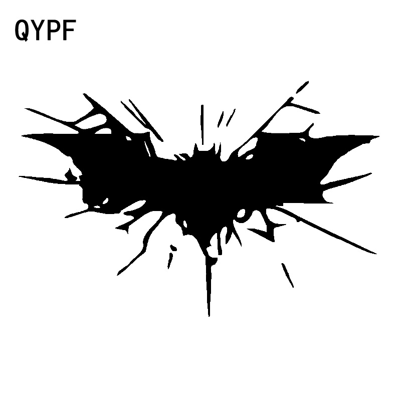 QYPF 17.9cm*11.7cm Interesting Bat Be Entangled In The Cobweb High Quality Vinyl Car Sticker Decal Light Pattern C18-0837