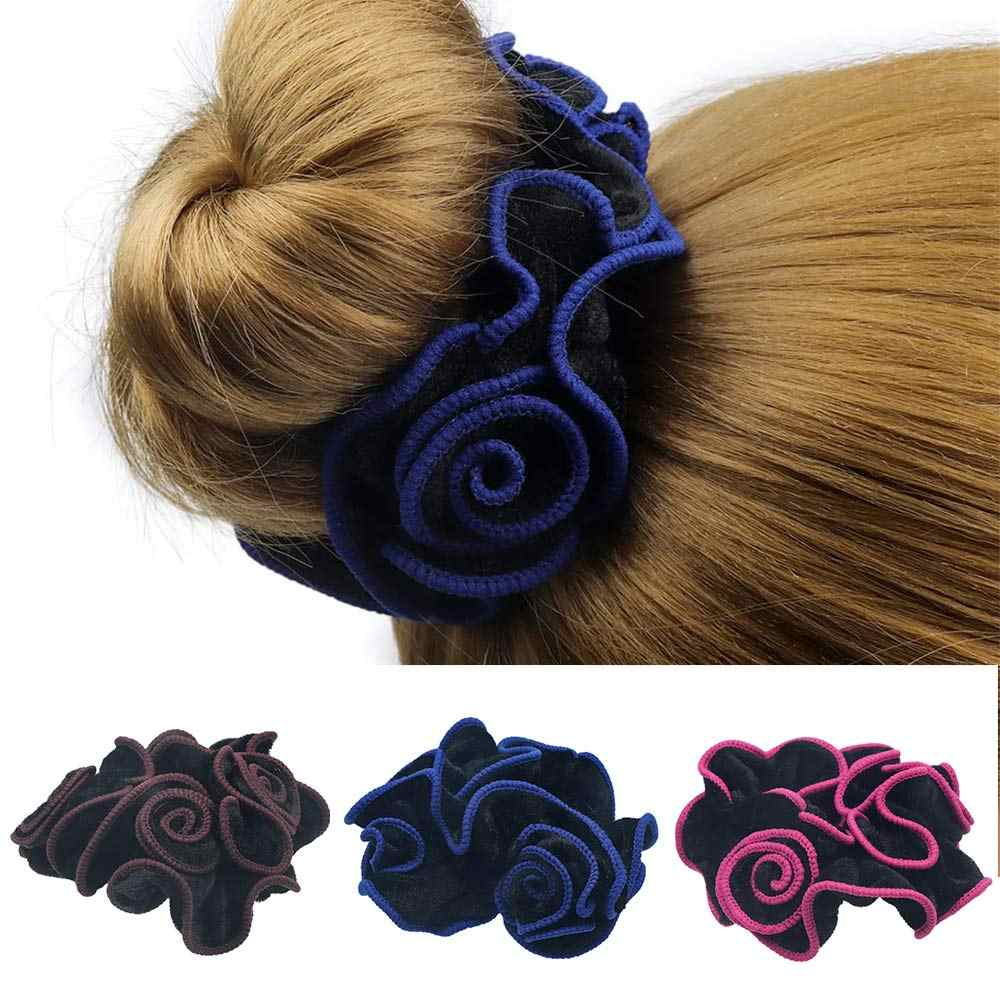 New Arrival Velvet Scrunchie For Women Disc Hair Flower Headrope Quality No Hurt Hair Rubber Bun Hair Accessories Elastic Spring