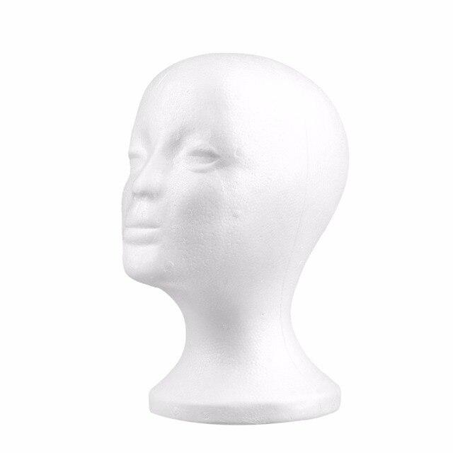 1Pc Durable White Female Styrofoam Mannequin Manikin Head Model Foam Wig Hair Glasses Display Glasses Hat Display Stand