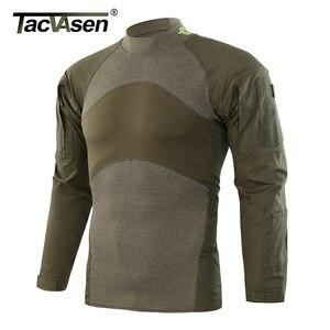 Image 3 - Tacvasen tático t shirts camuflagem airsoft combate do exército t camisas dos homens de manga longa assalto militar camisa masculina caça roupas
