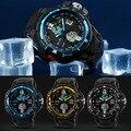 Horas Relojes de Diseño Del Deporte Del Mens Impermeable Analógico Digital Dual Time Alarm Fecha Cronógrafo Reloj Tienda 51