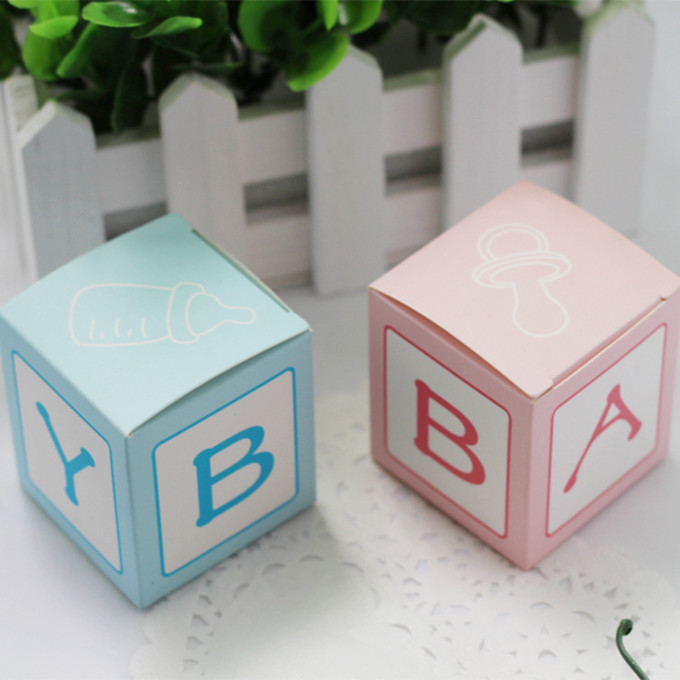 Бесплатная доставка 100 шт./лот ребенка коробка конфет детей Best подарочная коробка синий/розовый Кормление бутылки ...