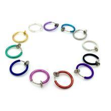 Piercing Jewelry Stud-Earrings False-Hoop Goth Septum Punk Nose Navel-Body Fake Clip