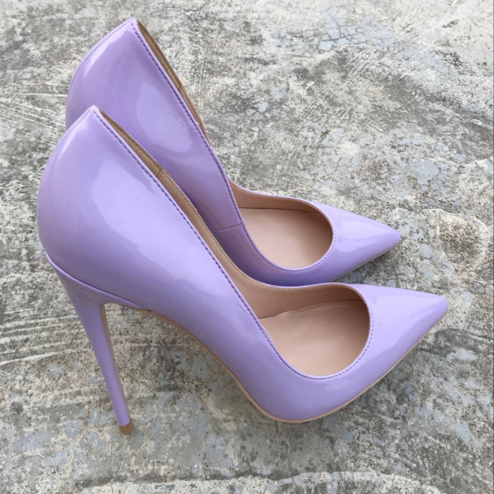 e6d9f21dbc1 Pointed Toe High Heels Women Shoes 12cm Heel Purple So Kate Brand Design  Pumps Real Leather Shoes Woman Wedding Party Shoes