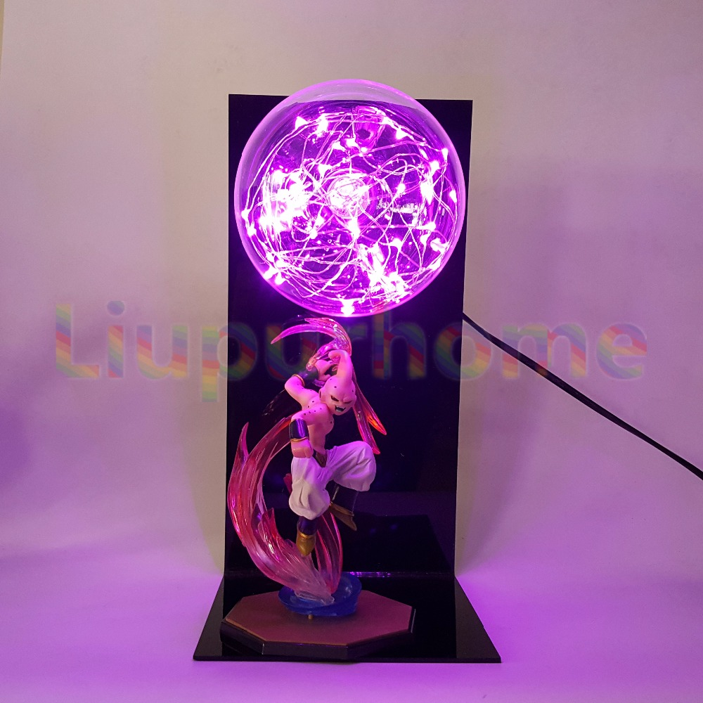 Dragon Ball Z Majin Buu Led Night Light Bulb Table Lamp Anime Luces Navidad