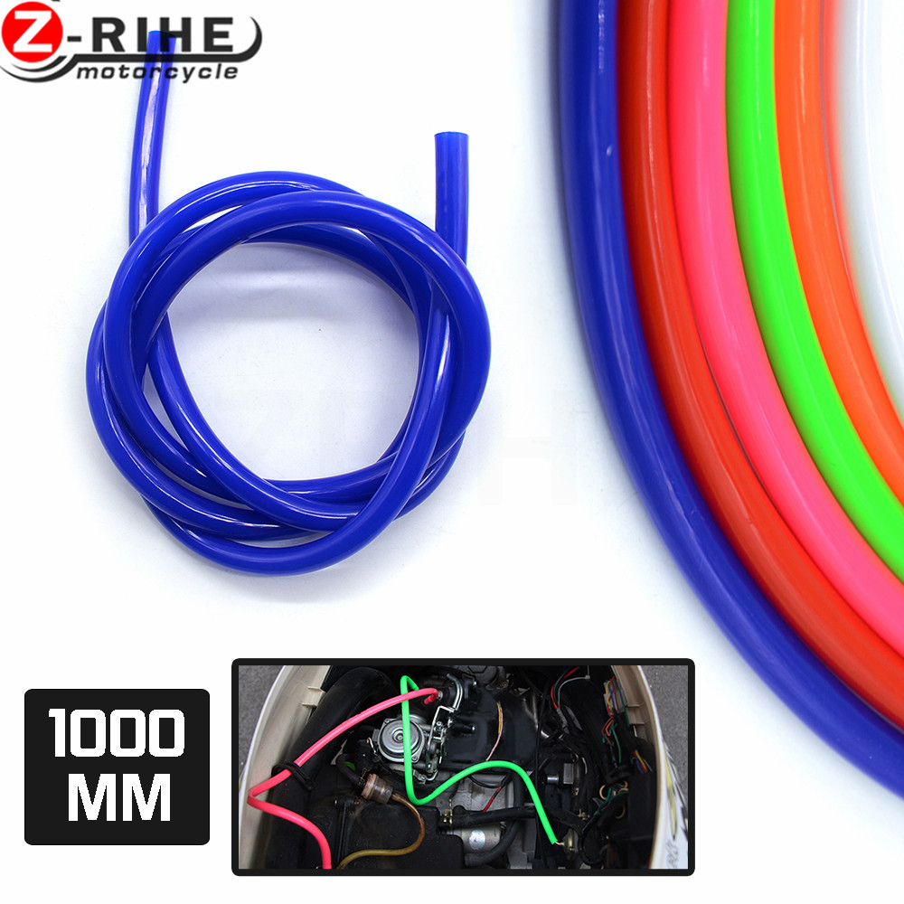 2017  2018 2019 1M Colorful Gas Oil Hose Fuel Line Petrol Tube Pipe For Motorcycle Dirt Pit Bike ATV Promotion Low Price