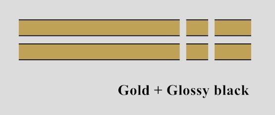 Автомобильный капот крышка двигателя виниловая наклейка авто задний багажник линии наклейки на капот Спорт полоса для Mini Coopers F54 F55 F56 R56 R57 R58 - Название цвета: Gold-Glossy black