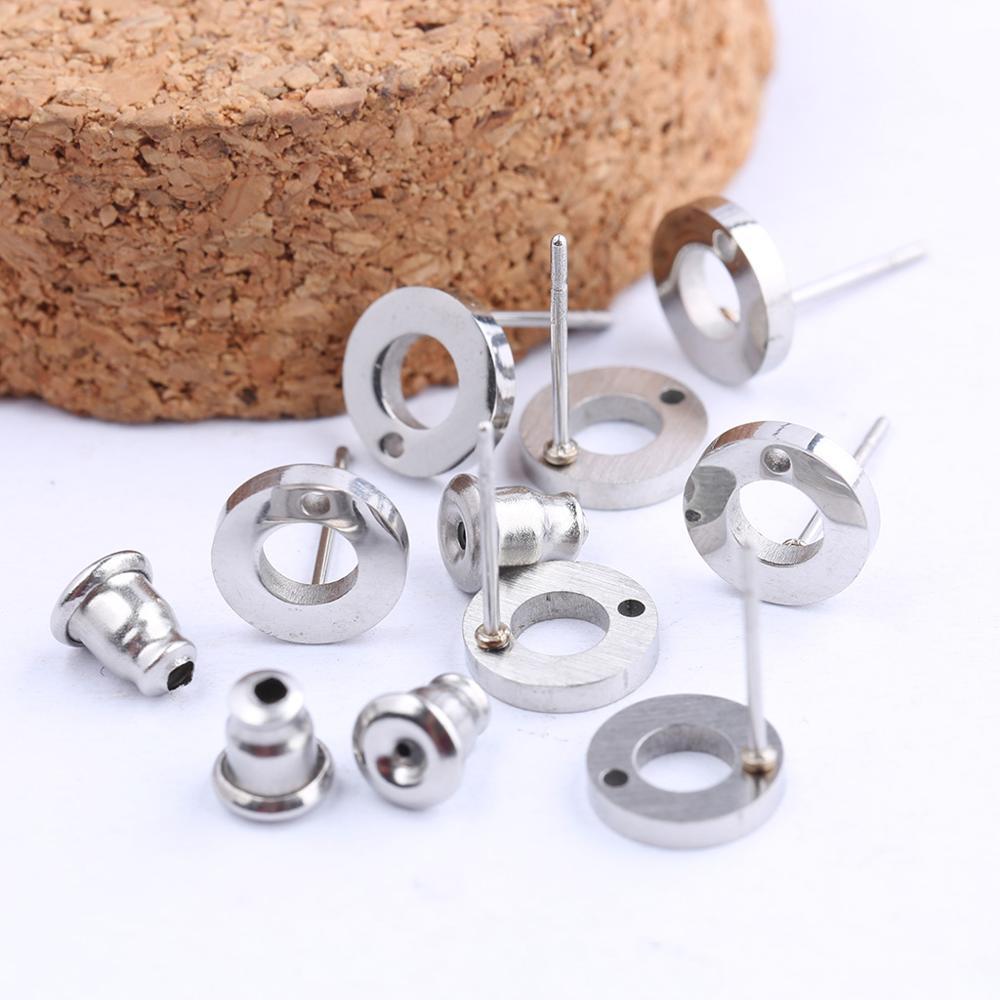 Onwear 20 pièces en acier Inoxydable boucle d'oreille connecteur constatations bricolage post boucles d'oreilles accessoires pour la fabrication de bijoux