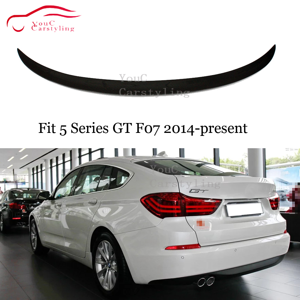 F07 Carbon Fiber M-Performance Style Rear Spoiler Wing for BMW 5 Series GT F07 Trunk Boot Lip Spoiler 535i 550i 2014 + image