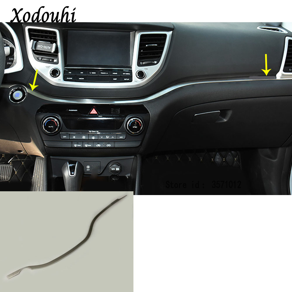 Pour Hyundai Tucson 2015 2016 2017 2018 voiture style boîte à gants couvercle détecteur garniture console centrale contrôle tableau de bord panneau 1 pièces