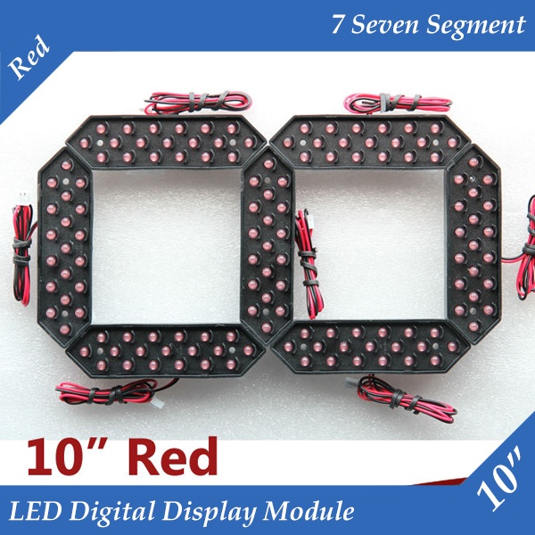 10pcs/lot 10 Red Color Outdoor 7 Seven Segment LED Digital Number Module for Gas Price LED Display module 10pcs/lot 10 Red Color Outdoor 7 Seven Segment LED Digital Number Module for Gas Price LED Display module