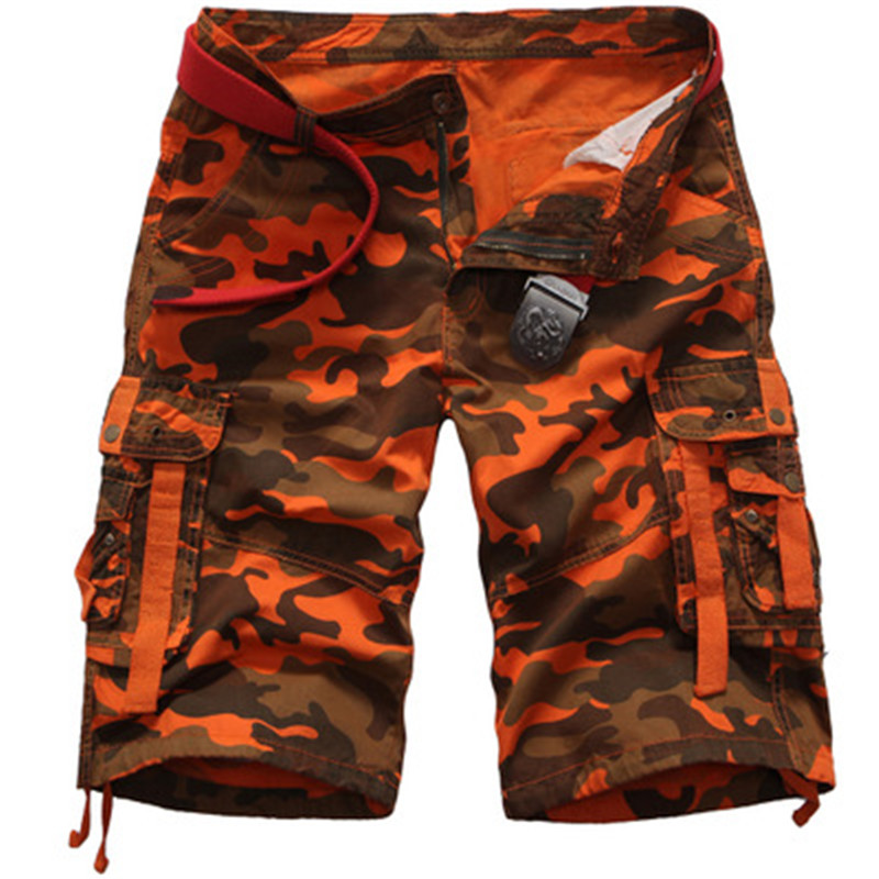 2018 New Men Cargo Shorts Cool Camouflage Summer Hot Sale Cotton Casual Short Pants Brand Clothing Comfortable Camo Cargo Shorts