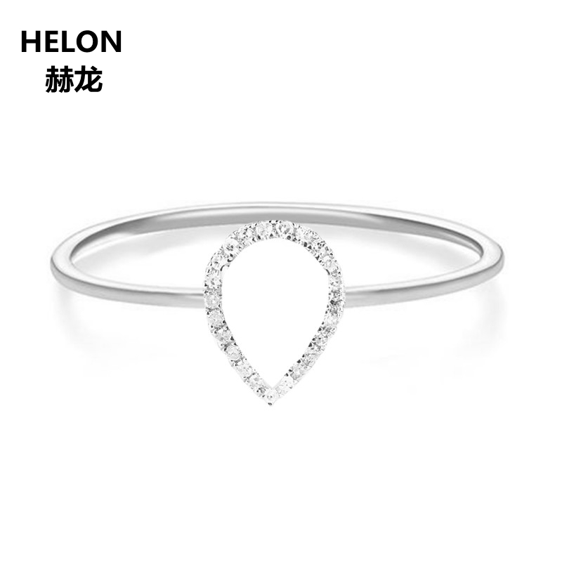 0.1ct SI/H Natural Diamonds Engagement Wedding Ring for Women Solid 14k White Gold Certified Diamonds Party Ring Fine Jewelry solid 14k white gold engagement ring for women 100% si h natural diamonds wedding band millgrain v shape trendy jewelry
