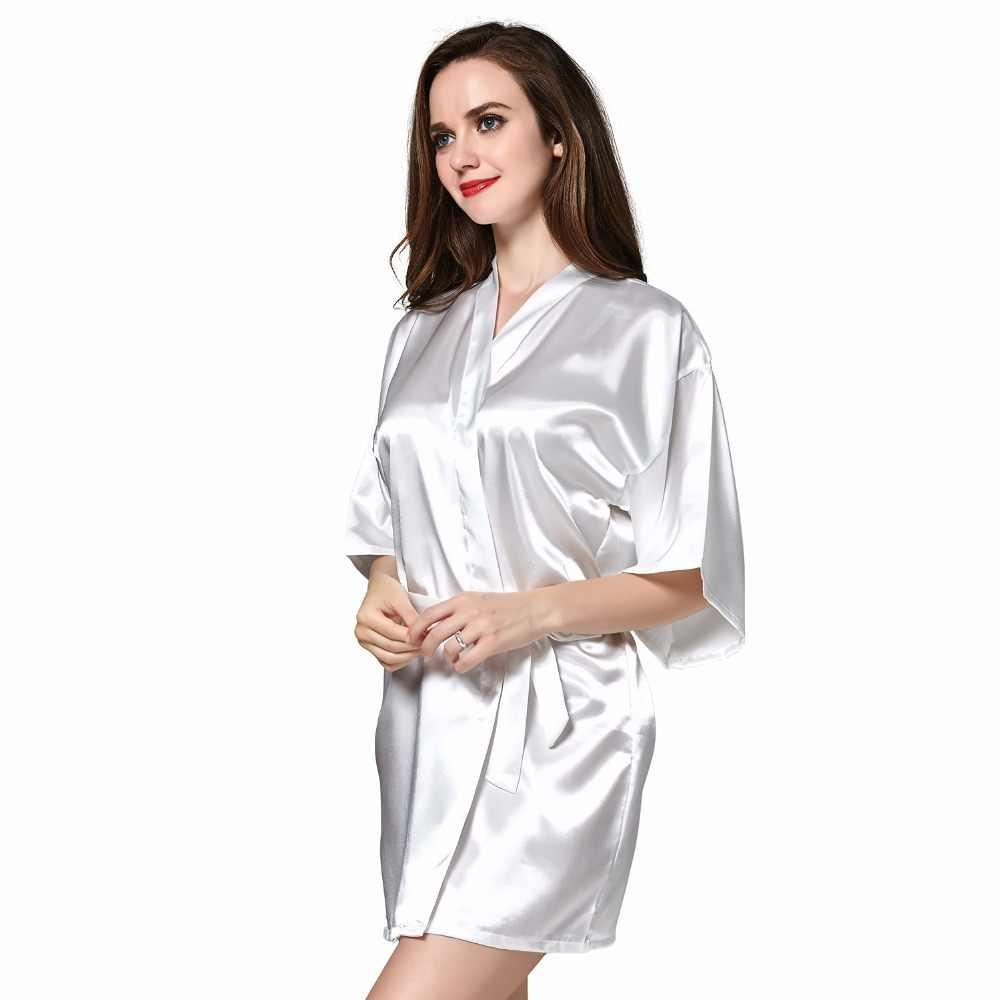 766fae0ac ... Sleepwear Robe Wedding Bride Robes Pyjama Robe Female nightwear  Bathrobe Nightdress Nightgowns chemise Gown Negligee ...