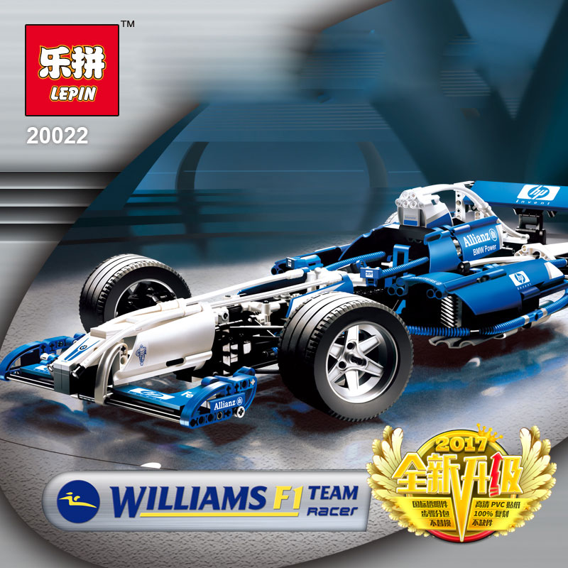 lepin 20022 the Williams F1 Team Racer Car Set Technic Series Building Blocks Bricks Boy Toys Children birthday gifts with 8461 цена