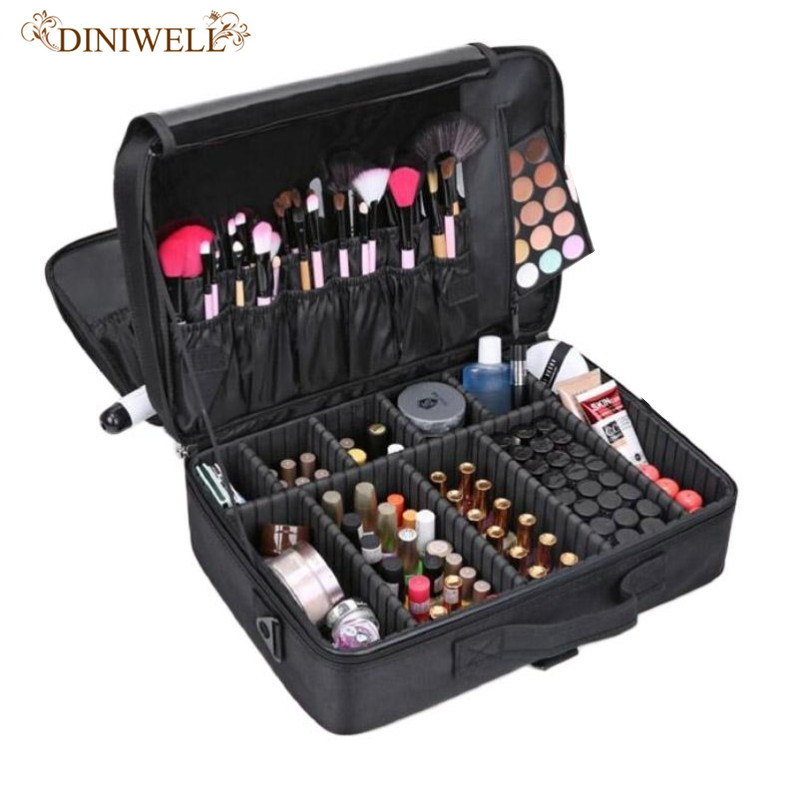 Makeup Artist Travel Accessories Professional Beauty Cosmetic Case & Cosmetic Bag Semi-permanent Tattoo Nails Multi-Layer Tool