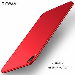 Image 3 - ViVO Y93 przypadku Silm, odporna na wstrząsy pokrywa luksusowe Ultra cienka, gładka, twardy telefon etui na Vivo Y93 tylna pokrywa dla ViVO Y 93 Fundas